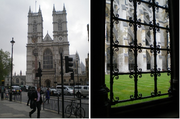 outside westminster abbey