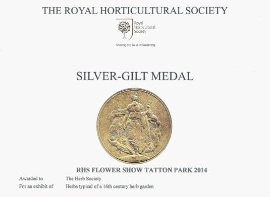 RHS Tatton 2014 Silver Gilt