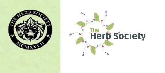 herb society logo before and after
