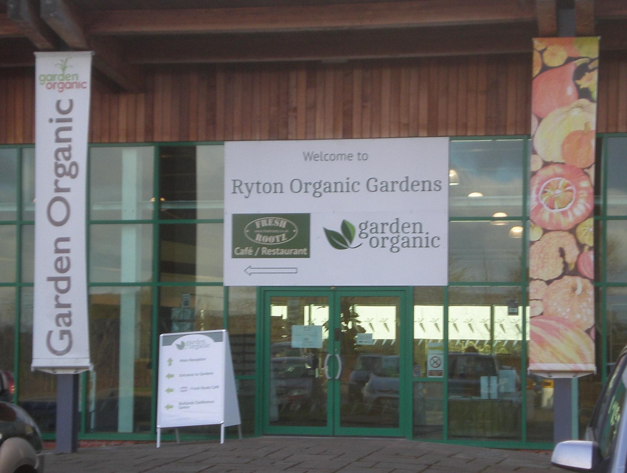ryton organic garden entrance