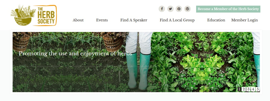 new herb society website