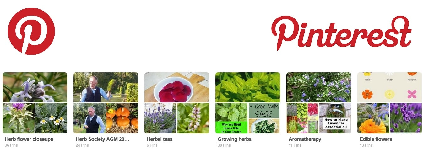 pinterest herb society boards